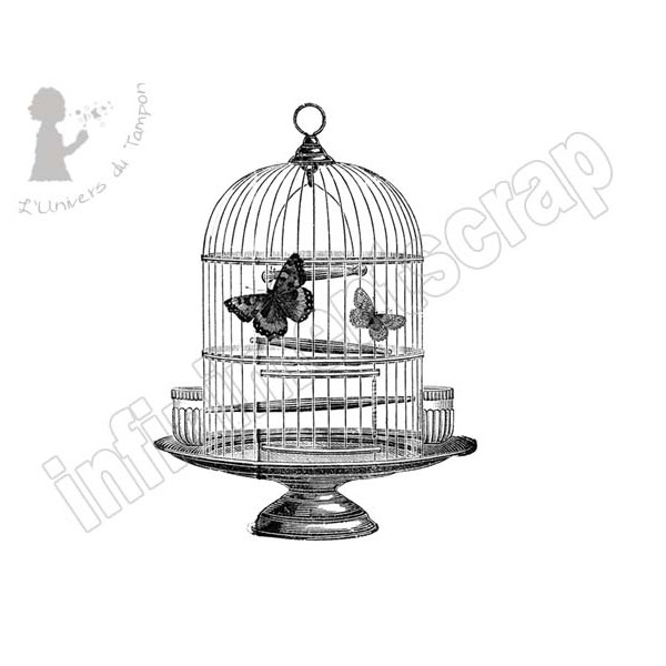 cage oiseau vintage infinimentscrapdesign. Black Bedroom Furniture Sets. Home Design Ideas