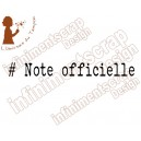Note officielle